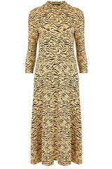 Midi-Kleid aus Viskose-Stretch - SET