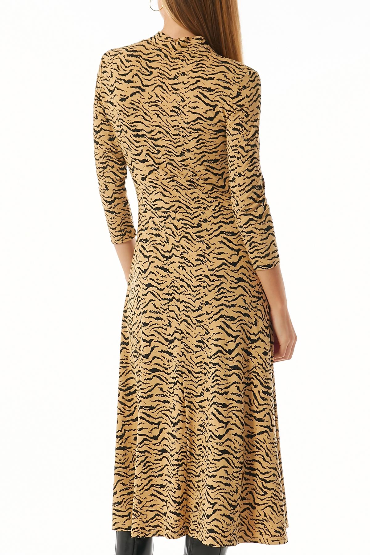 Midi-Kleid aus Viskose-Stretch | SET | myCLASSICO.com