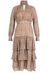 Midi-Kleid aus Chiffon - KAOS