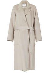 Mantel aus Wolle mit Gürtel - IVY & OAK