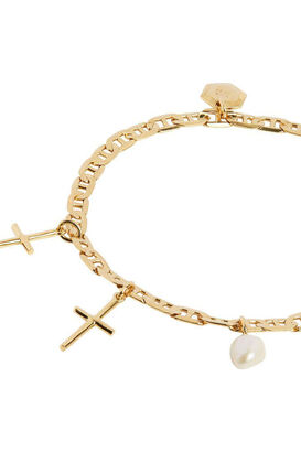 Vergoldetes Armband Cross Charm Medium