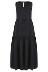 Maxi-Kleid aus Baumwollpopeline - SET