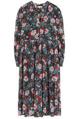 Midi-Kleid Catherin aus Seiden-Stretch - KUDIBAL