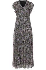 Midi-Kleid mit Flower-Print - SET