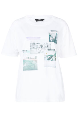 T-Shirt mit Foto-Prints