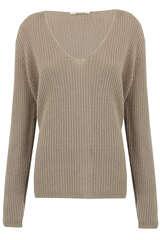 Cashmere-Pullover mit V-Ausschnitt - SMILLA