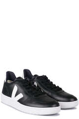 Sneakers V-10 Leather Black/White - VEJA