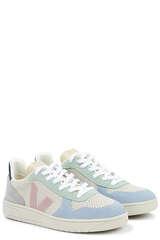 Sneakers V-10 Suede Multico Natural Babe - VEJA