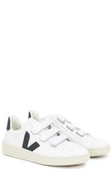 Sneakers V-Lock Leather Extra White Black - VEJA
