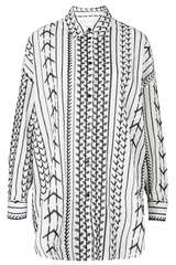 Bestickte Bluse aus Baumwolle - LALA BERLIN