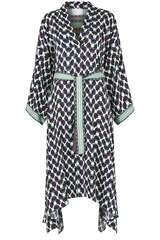 Kimono-Kleid aus Viskose  - IVI COLLECTION