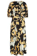 Midi-Kleid Aubrie mit Lemons-Print - STINE GOYA
