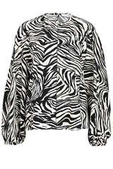 Bluse Dianne mit Zebra-Print - STINE GOYA