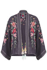 Kimono-Jacke aus Cupra-Rayon - JOHNNY WAS