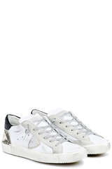 Sneakers PRLD Low W Mixage Animalier Blanc - PHILIPPE MODEL