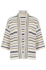 Kimono-Cardigan aus Eco-Leinen - CLOSED