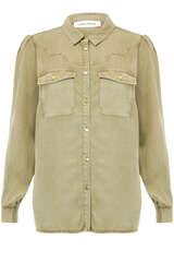Bluse im Westernstil aus Lyocell - SOFIE SCHNOOR