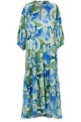 Maxi-Kleid Harper aus Seiden-Stretch - KUDIBAL
