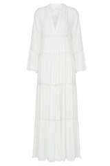Kleid aus Viskose mit Spitzendetails - JADICTED