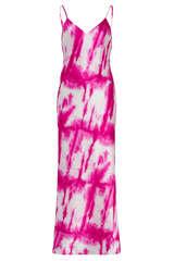 Glänzendes Midi-Kleid mit Seide - JADICTED