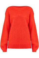 Pullover mit Merinowolle und Korbflechtmuster  - BLOOM