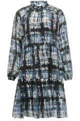 Mini-Kleid Imprint mit Rüschen-Detail - SECOND FEMALE