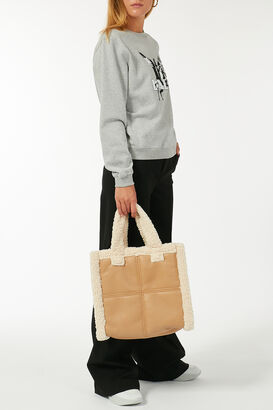 Tote Bag mit Faux Shearling