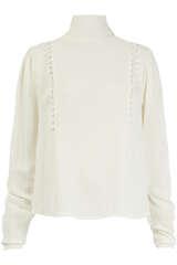 Bluse aus Viskose mit Drapierung - BIRGITTE HERSKIND
