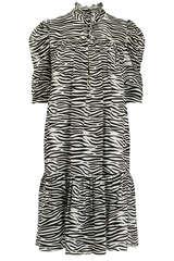 Midi-Kleid Liva mit Zebra-Print - BIRGITTE HERSKIND