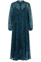 Midi-Kleid aus Chiffon - FLOWERS FOR FRIENDS