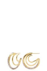 Vergoldete Ohrringe Majestica mit Lavendel Zirkonia - PDPAOLA