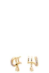 Vergoldete Ohrringe Lumiere mit Lavendel Zirkonia - PDPAOLA