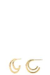Vergoldete Ohrringe mit Zirkonia - PDPAOLA