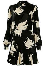 Kleid mit floralem Muster und Drapierung - ESSENTIEL ANTWERP