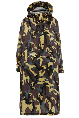 Poncho mit Camouflage-Print