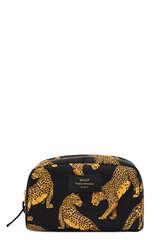Große Kosmetiktasche Black Leopard - WOUF