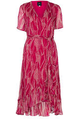 Midi-Kleid mit Floralmuster - IDANO