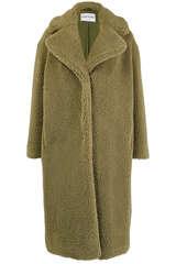 Langer Mantel aus Teddyfell - STAND STUDIO