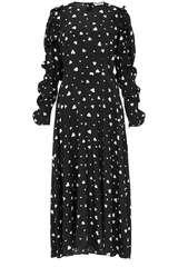 Midi-Kleid Zangle mit Herzchen-Print - ESSENTIEL ANTWERP
