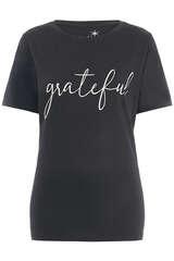 T-Shirt aus Baumwolle und Viskose - JUVIA