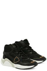 Sneakers Eze Mondial Veau Noir - PHILIPPE MODEL