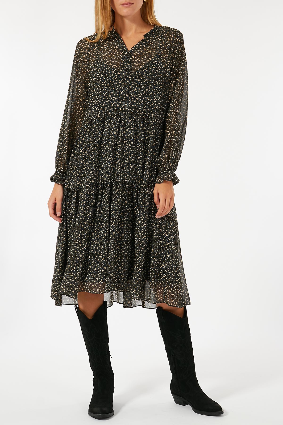 Midi-Kleid Della mit Blumen-Print | SECOND FEMALE ...
