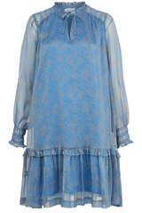 Chiffon-Kleid mit Volant - BLOOM