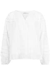Bluse mit Häkeldetails aus Baumwolle  - BLOOM