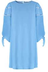 Kleid aus Viskose mit Zierkante  - BLOOM
