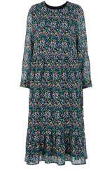 Midi-Kleid mit floralem Muster - BLOOM