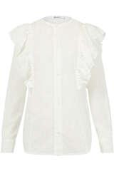 Bluse aus Baumwolle mit Fil Coupé - FLOWERS FOR FRIENDS