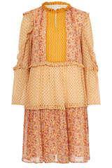 Kleid aus Viskose-Chiffon  - FLOWERS FOR FRIENDS