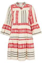 Tunikakleid aus Baumwolle mit Jaquard-Details  - FLOWERS FOR FRIENDS