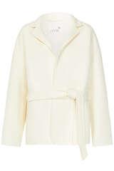 Jacke mit Bindegürtel aus Woll-Blend - JUVIA